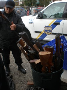 SWAT officers dismantled and tagged each gun collected.