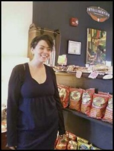Anneliese Martinez, an employee at One Shot Coffee